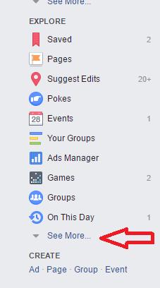 המלצות בפייסבוק - שלב 1