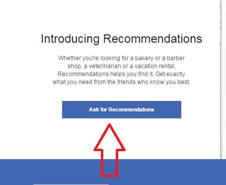 המלצות בפייסבוק - שלב 3