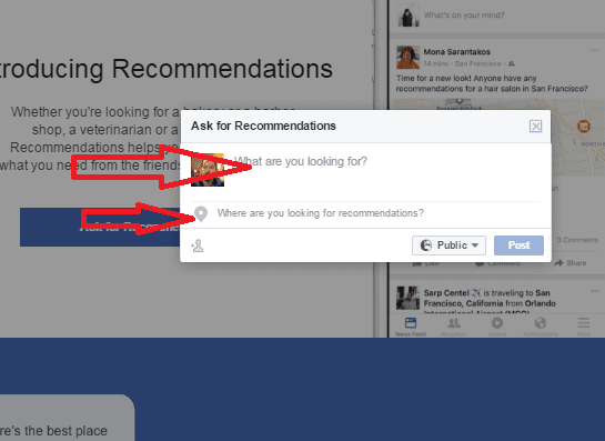 המלצות בפייסבוק - שלב 4